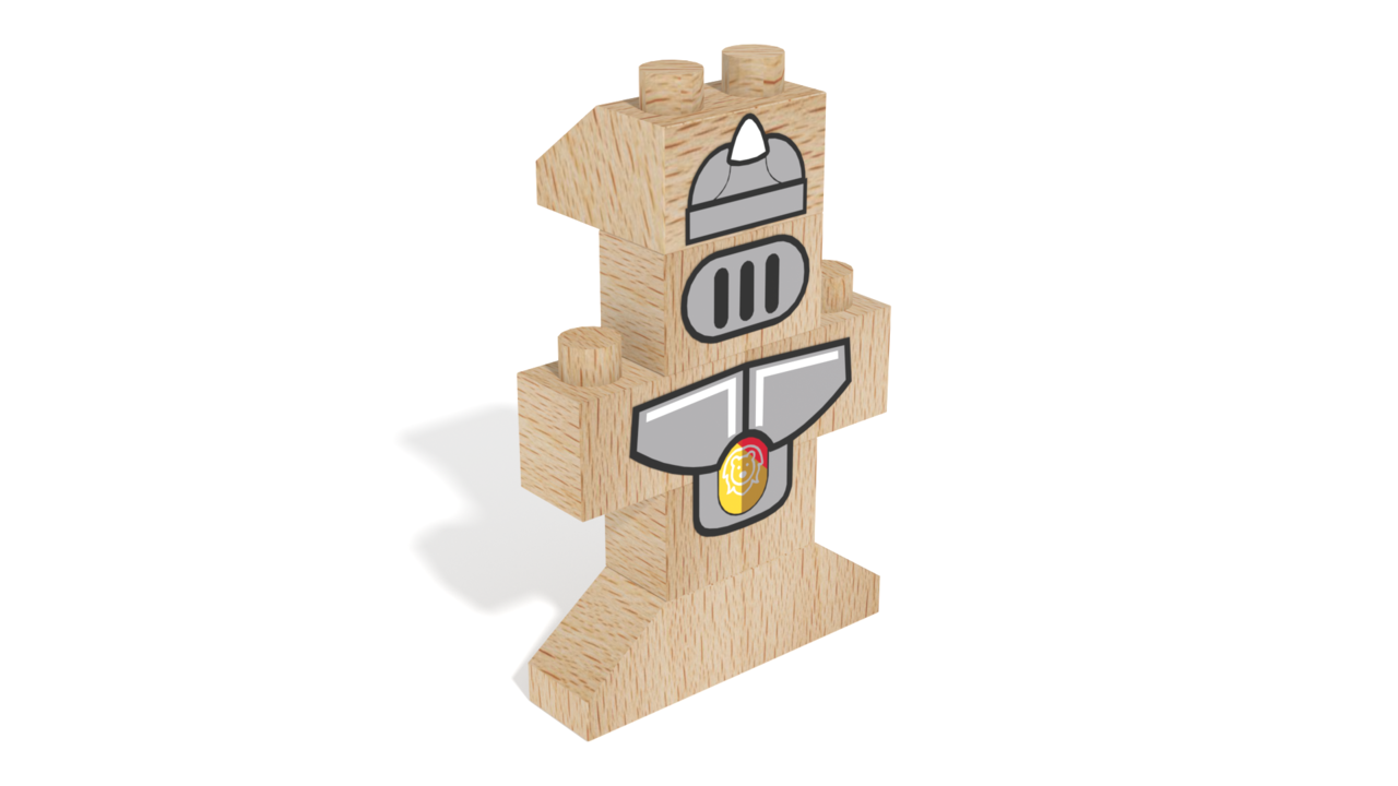 Image for FabBRIX Kingdom, Knight in 3D building instructions