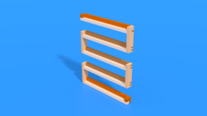 Image Description of Wooden Rack in 3D assembly instructions
