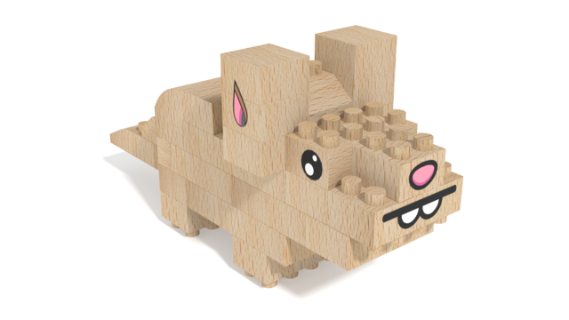 Image for FabBRIX Pets, Hamster in 3D building instructions