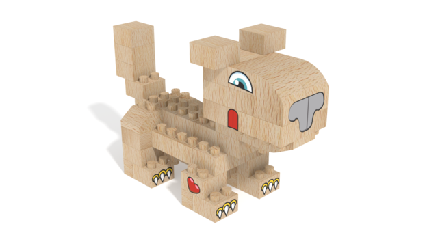 Image for FabBRIX Pets, Dog in 3D building instructions