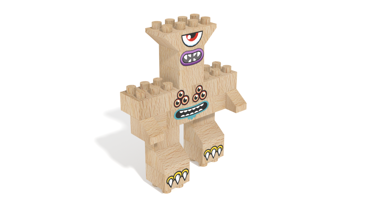 Image for FabBRIX Monsters, Watching Monster in 3D building instructions