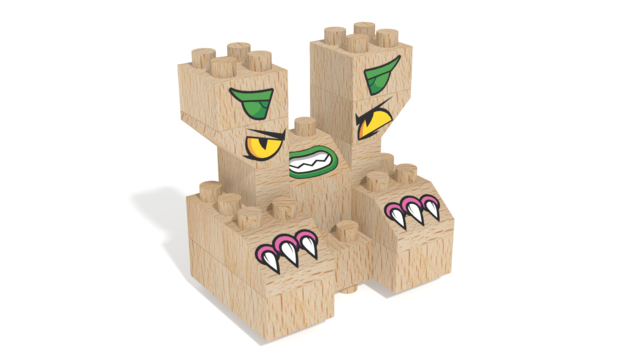 Image for FabBRIX Monsters, Angry Monster in 3D building instructions