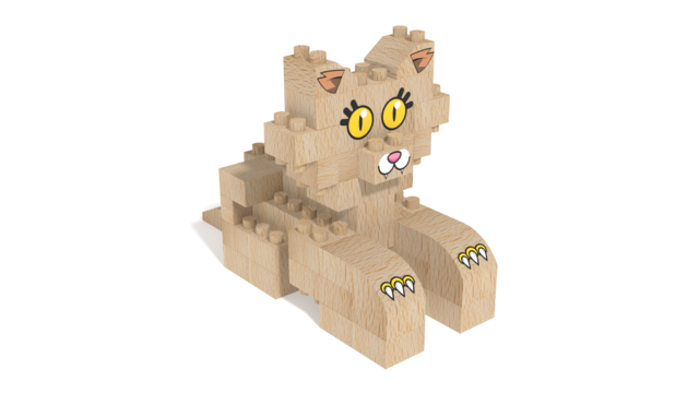 Image for FabBRIX Pets, Cat in 3D building instructions