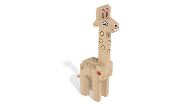 Image for FabBRIX Safari, Giraffe in 3D building instructions