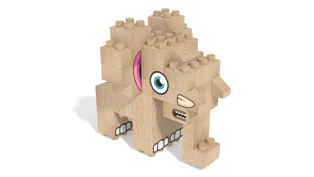 Image for FabBRIX Safari, Elephant in 3D building instructions