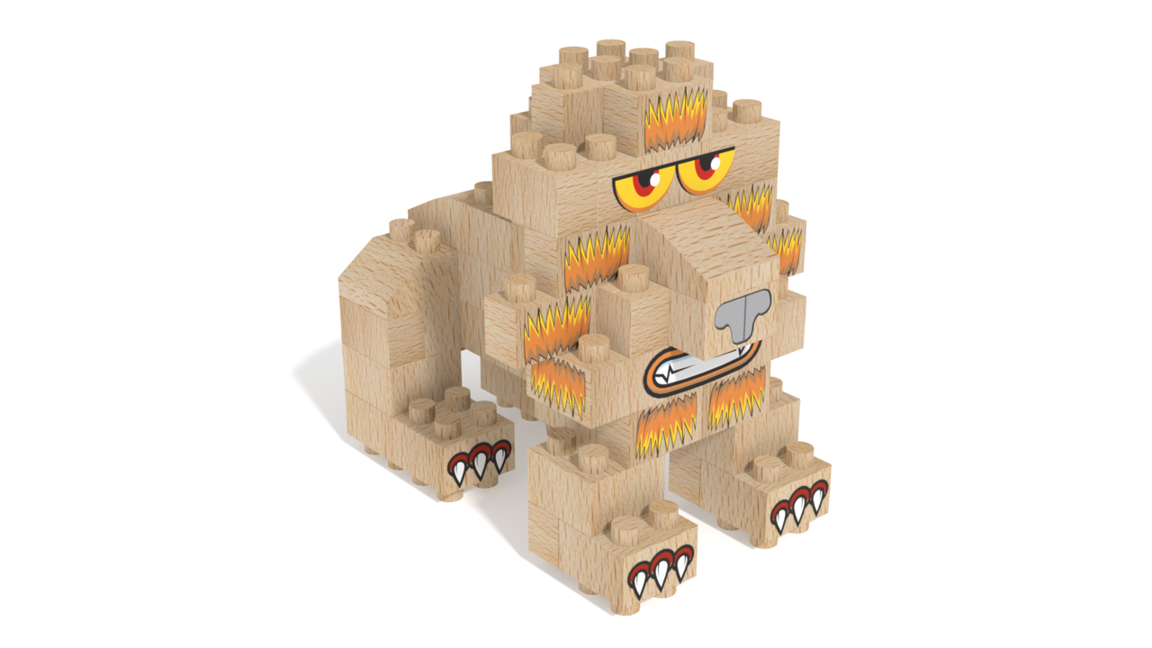 Image for FabBRIX Safari, Lion in 3D building instructions