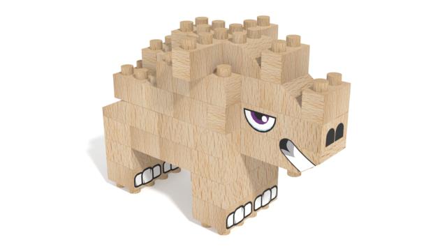 Image for FabBRIX Safari, Rhino in 3D building instructions