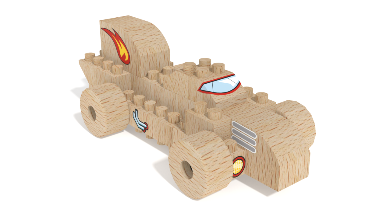 Image for FabBRIX Vehicles, Dragster in 3D building instructions