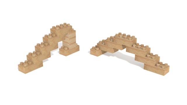 Image of Holznoppi, Sways, made of pine wood in 3D building instructions