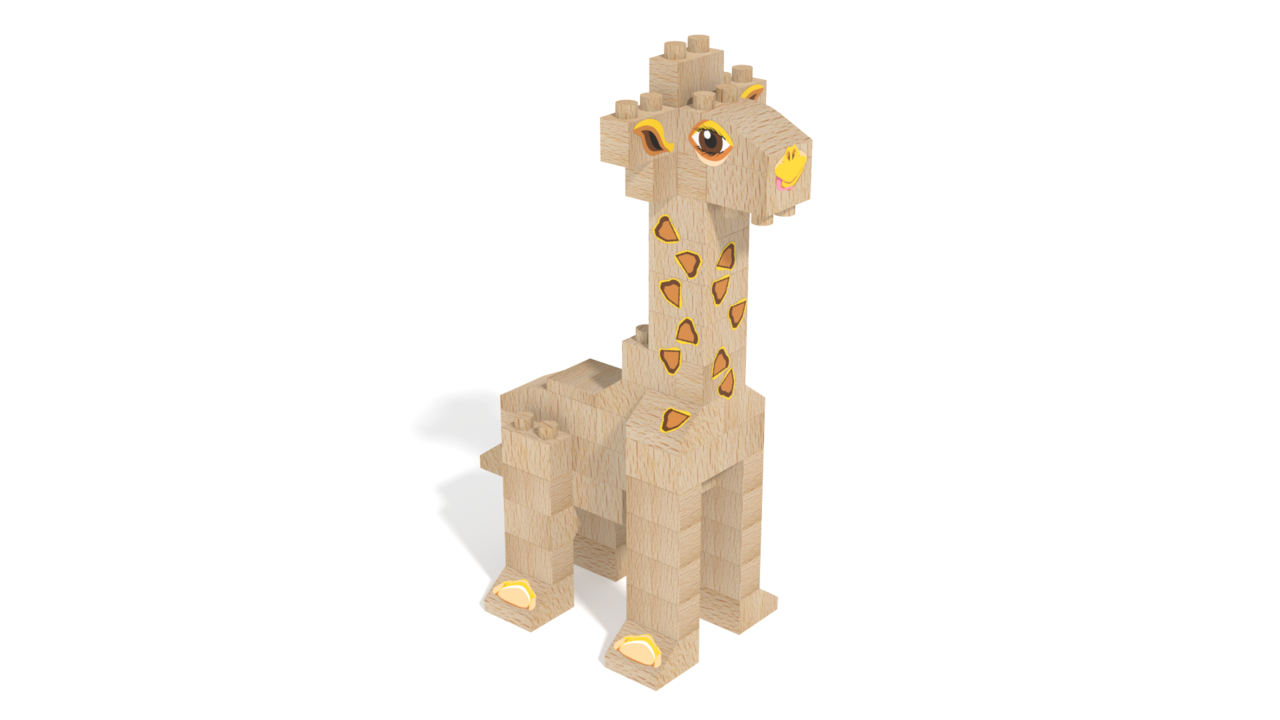 Image for FabBRIX WWF, Giraffe in 3D building instructions