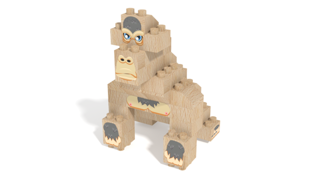 Image for FabBRIX WWF, Gorilla in 3D building instructions