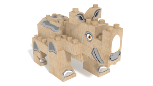 Image Description of FabBRIX WWF, Rhinoceros in 3D building instructions
