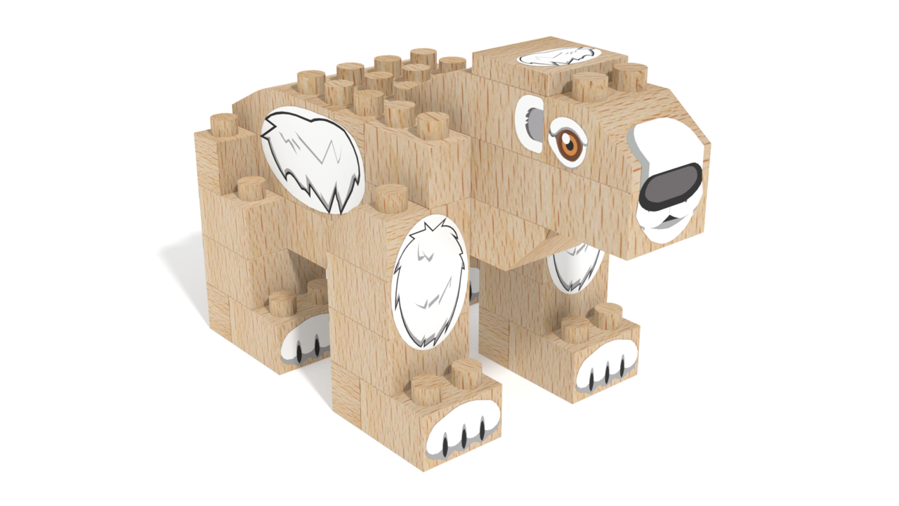 Image for FabBRIX WWF, Polar Bear in 3D building instructions