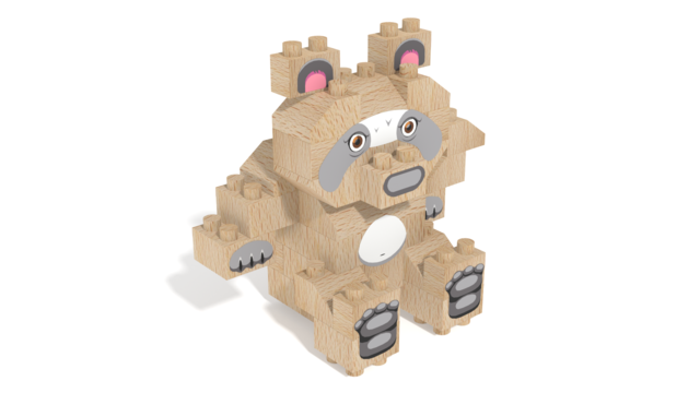 Image for FabBRIX WWF, Panda in 3D building instructions
