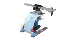 Image Description of Police Helicopter, from LEGO City set 30351 in 3D building instructions