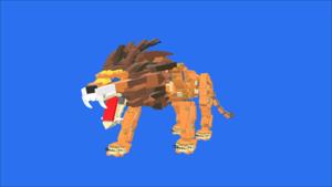 Image Description of A LEGO Lion, by Jernej Nagode in 3D building instructions