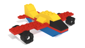 Image Description of Plane from MEGA Construx, Daring Box of Blocks 130 pieces in 3D building instructions