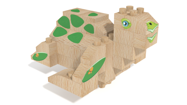 Image for FabBRIX WWF, Sea Turtle in 3D building instructions
