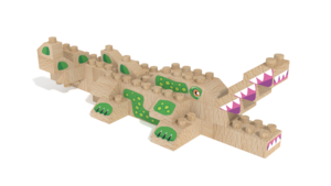 Image Description of FabBRIX WWF, Croco in 3D building instructions