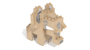 Image Description of FabBRIX WWF, Elephant in 3D building instructions