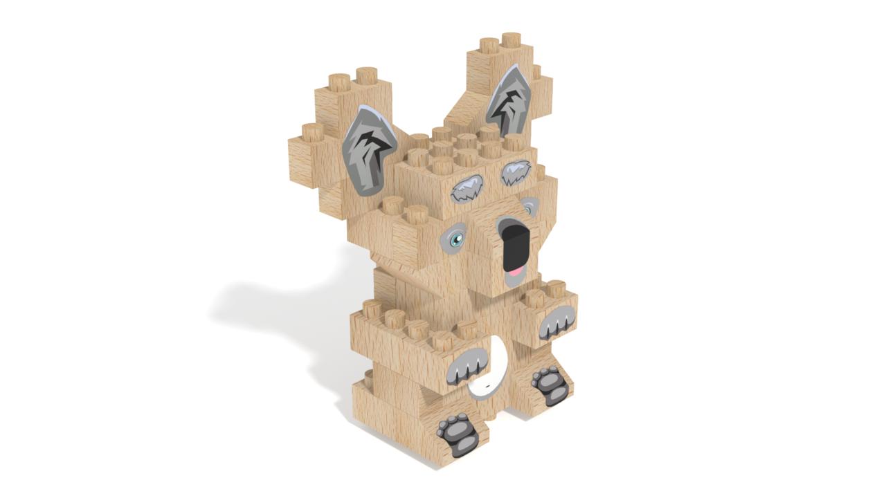 Image for FabBRIX WWF, Koala in 3D building instructions