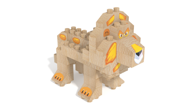 Image for FabBRIX WWF, Lion in 3D building instructions