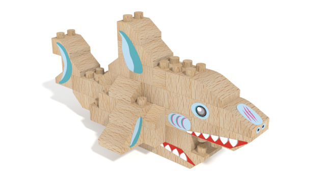 Image for FabBRIX WWF, Shark in 3D building instructions