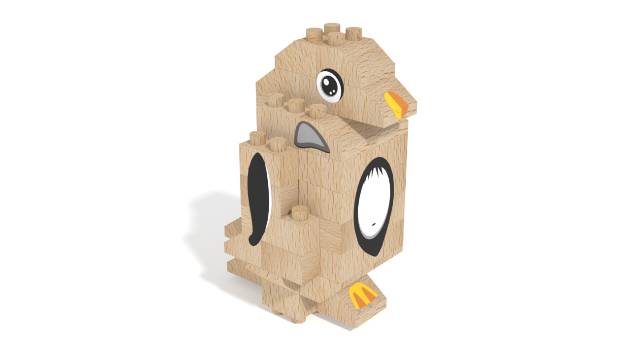 Image for FabBRIX WWF, Penguin in 3D building instructions