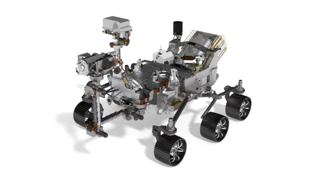 Image for NASA Mars 2020 Perseverance Rover in 3D assembly instructions