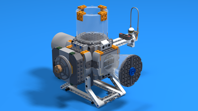 Image for Space station module with a LEGO mini-figure with animations at the end.