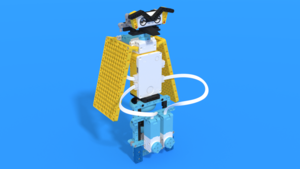 Image Description of Tohuru - LEGO SPIKE Prime owl robot