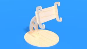 Image Description of Laser Cut Smartphone Holder in 3D Assembly Instruction