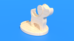 Image Description of Good Boy - Phone Holder as a laser cut in 3D Assembly Instruction