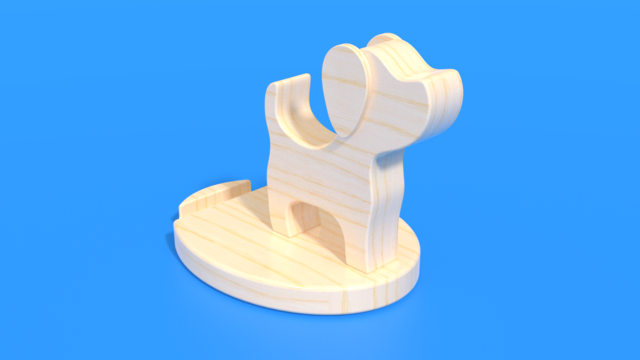 Image for Good Boy - Phone Holder as a laser cut in 3D Assembly Instruction