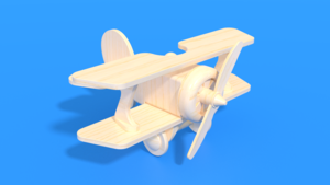 Image Description of Daredevils Delight - wooden laser cut toy in 3D assembly instructions