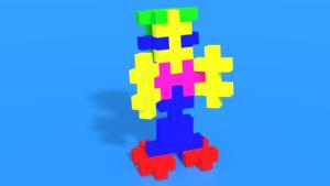 """Image Description of  Human from """"Plus-Plus BIG Neon / 15 pcs Tube"""""""