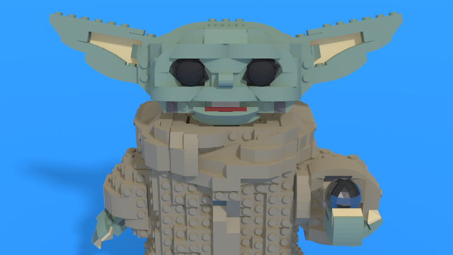 "Image for LEGO Baby Yoda from ""Star Wars"" in 3D assembly instructions by BuildIn3D"