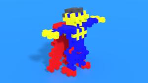 Image Description of Superhero from  Plus-Plus Superhero / 100 pcs Tube in 3D building instructions