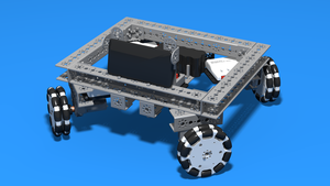 Image Description of Tetrix Box Robot chassis for FTC competitions