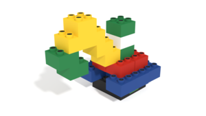 Image Description of Isd building instructions, a crane build with Light Stax Illuminated Blocks in 3D building instructions