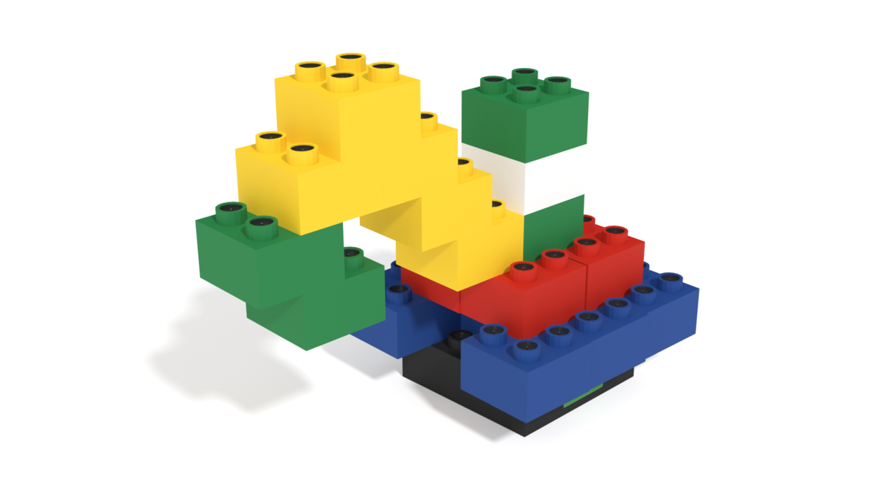 Image for Isd building instructions, a crane build with Light Stax Illuminated Blocks in 3D building instructions