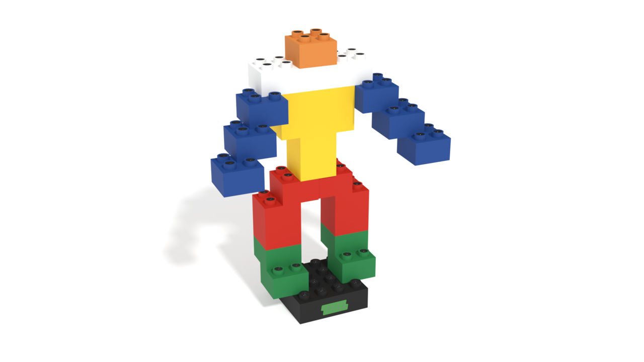 Image for Core, a LIGHT STAX(R) Illuminated Human in 3D building instructions